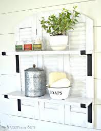 knock off ballard designs repurposed shutters bathroom shelf inspired by ballard designs catalog shutter shelf that sells for 259 00 this catalog copycat version