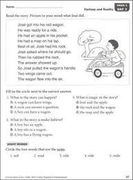 first grade reading comprehension passages first grade reading
