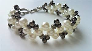 pearl bracelet tutorials images Diy pearl bracelet beaded jewelry pattern for beginners jpg