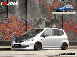 jdm cars honda honda jazz jdm by artriviant on deviantart