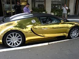 bugatti veyron gold cars