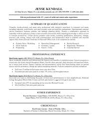 exles on resumes real estate resume exle tammys resume