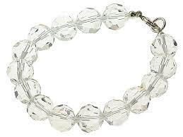 crystal glass bracelet images Sterling silver edith clear crystal glass bracelet crystal jpg