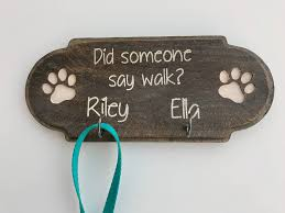 personalized leash holder u2013 dog paw sign u2013 leash organizer u2013 pet