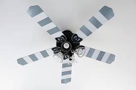 how to paint a ceiling fan striped ceiling fan blades project page
