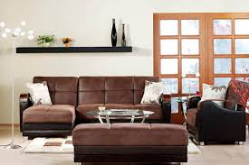 Eco Friendly Sectional Sofa Sectional Sofabed Sleeper King Size Luna Brown Futon The Futon