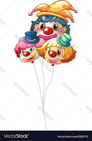 clown baloons three clown balloons royalty free vector image