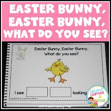 easter bunny book easter bunny easter bunny what do you see cut paste book