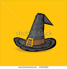 witch costume hat halloween clothes object stock vector 473958085