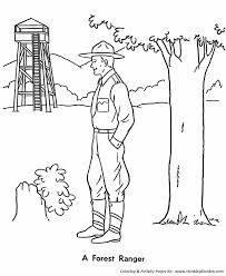 summer color pages summer coloring kids park ranger coloring page sheets of the