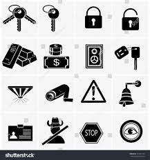 security warning icons simplus series vector stock vector