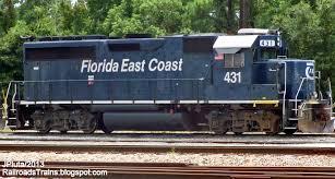 Florida East Coast Map by Railroad Freight Train Locomotive Engine Emd Ge Boxcar Bnsf Csx