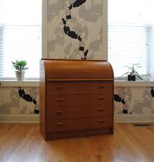 danish teak roll top secretary desk phylum furniture