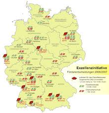 Ulm Germany Map by Karte Zur Exzellenzinitiative In Deutschland U2022 Mapsof Net