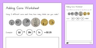 coins worksheet australia adding coins worksheet