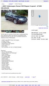 could you go 7 200 for this rare 2003 vw passat w8