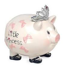 silver piggy bank for baby reed barton pig on skates bank nothin but pigs part
