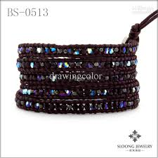 crystal wrap bracelet images 2018 fall swarovski crystal beaded leather wrap bracelet with jpg