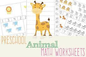 animal preschool math worksheets u2013 3 boys and a dog