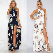 maxi dresses uk chiffon halter neck floral women s maxi dresses ebay