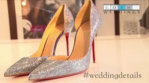 sparkly christian louboutin bridal shoes youtube