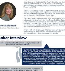 Wells Fargo Teller Positions Speaker Feature Janet Solomon Ccw Executive Exchange