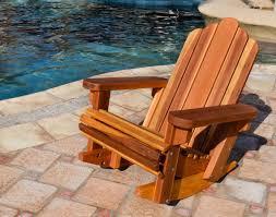 Redwood Adirondack Chair Redwood Adirondack Rocking Chair Durable Wooden Rocker In Adirondack