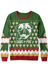 pug sweater doug the pug official merchandise knitted pugly sweater