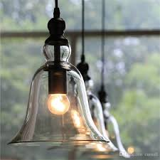 glass bell pendant light new antique vintage style glass shade ceiling light bell pendant