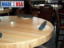 butcher block table tops round butcher block restaurant table tops gotable com