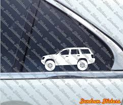 blue jeep grand cherokee 2004 2x lifted 4x4 outline stickers for jeep grand cherokee wj 1999