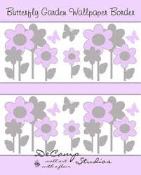 GIRL ROOM DECOR Teal Floral Print Wallpaper Border Wall Art Decals - Wall borders for kids rooms