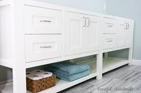 Open Shelf Bathroom Vanity Mission Style Open Shelf Bathroom Vanity Buildsomething
