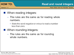 rounding integer numbers chapter 1 whole numbers and integers instructor dr gehan
