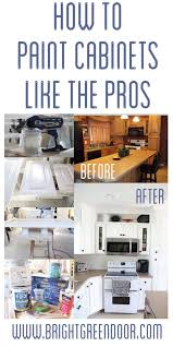 how to paint kitchen cabinets sprayer how to spray paint cabinets like the pros bright green door