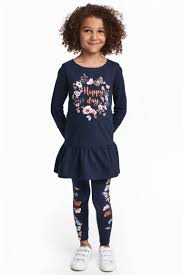 dress and leggings dark blue butterflies kids h u0026m ca