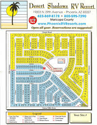 Map Phoenix Arizona by Directions And Sitemap Desert Shadows Rv Resort