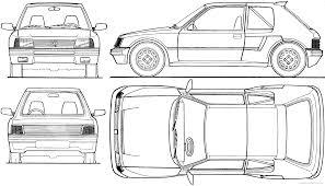 peugeot cars 1985 the blueprints com blueprints u003e cars u003e peugeot u003e peugeot 205 t16