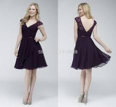 purple lace bridesmaid dress bridesmaids dresses 2015 v neck cap sleeve