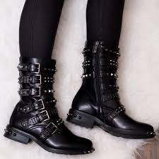 fashion motorcycle boots bomb black biker boots from spylovebuy com