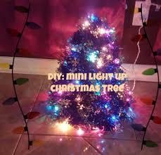 diy mini light up tree