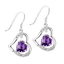 purple drop earrings fashion jewelry online fashion jewelry store designer costume