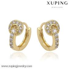 gold earrings with price small baby 14k gold plated cz mini hoop earrings the