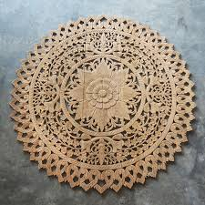 circular wood wall carved wood wall panel wooden plaque decor