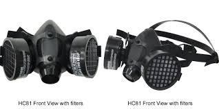 Masker Gas hc 82double filter portabel keselamatan karet setengah wajah kimia