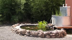 stock tank fish pond with stock tank filter peaceful serenity