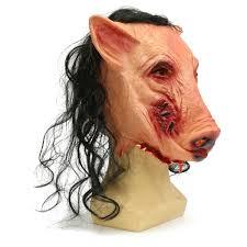 skin mask halloween halloween scary creepy pig animal mask halloween costume party