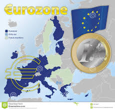 Zone Map Usa by Euro Currency Zone Map Stock Illustration Image 56319847