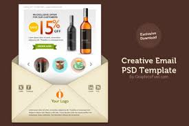creative email newsletter psd template psd file free download