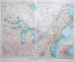 Northeast Map Usa by Map Of The Northeast Usa And Canada 1903